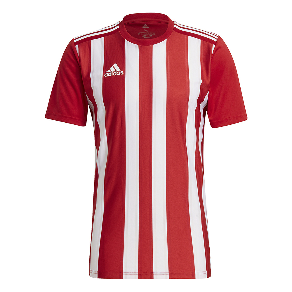 ADIDAS STRIPED 21 JERSEY SHORT SLEEVE, RED-WHITE MAN.